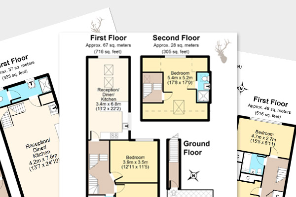 Colour floor plan